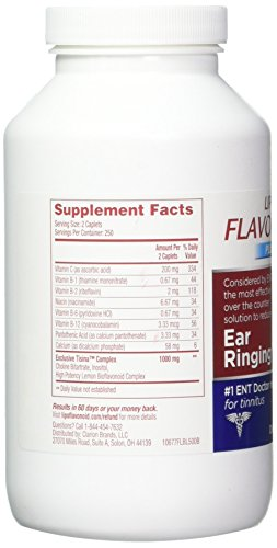 Lipo-Flavonoid Plus Ear Health Supplement   Most Effective Over the Counter Solution to Reduce Ear Ringing  #1 ENT Doctor Recommended for Tinnitus   500 Caplets by Lipo-Flavonoid (Image #4)