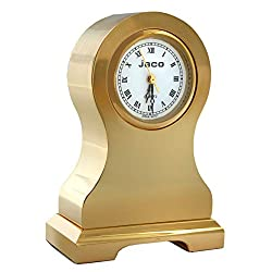 Miniature Full Brass Novelty Table Clock, Vintage Classic Tower Design