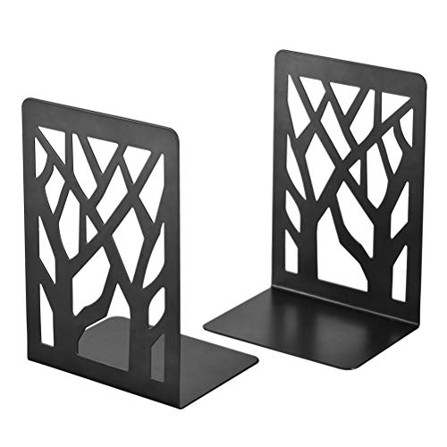 Book Ends, Bookends, Book Ends for Shelves, Bookends for Shelves, Bookend, Book Ends for Heavy Books, Book Shelf Holder Office Decorative, Metal Bookends Black 1 Pair, Bookend Supports, Book Stoppers