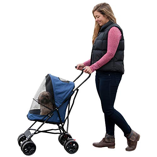 Pet Gear Travel Lite Pet Stroller for Cats and Dogs up to 15-pounds, Navy