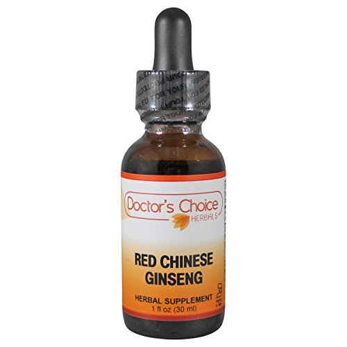 Doctor's Choice Red Chinese Ginseng Liquid Herbal Supplement with Red Chinese Ginseng Root 30ml (Premium Quality-Glass Bottle) Ginseng Chinese Red Ginseng