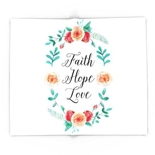 Society6 Faith, Hope, Love 88'' x 104'' Blanket by Society6