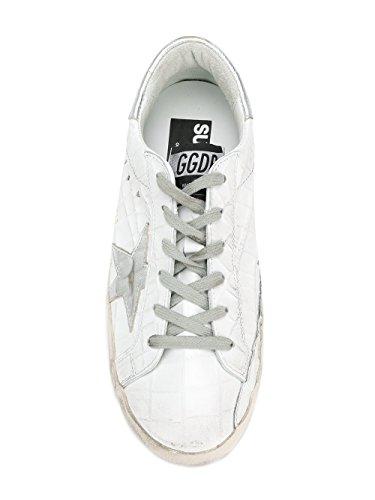 G32WS590D98 Golden Cuir Goose Baskets Blanc Femme Argent wnSqqA0EHF