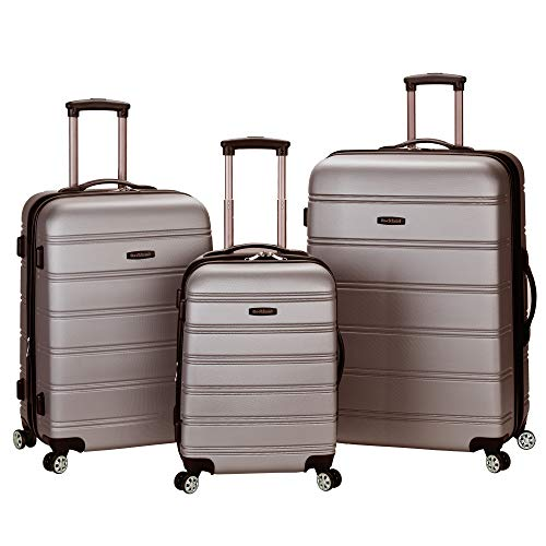 Rockland Melbourne 3 Pc Abs Luggage Set, Silver