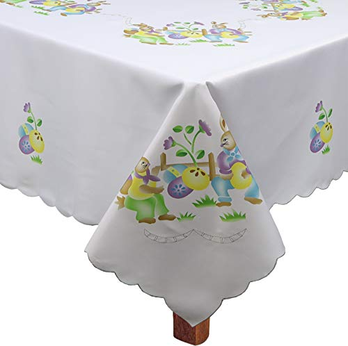 (Creative Linens Easter Bunny Egg Tablecloth 68