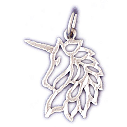 14K Yellow Gold Unicorn Pendant - 19 mm 14k Yellow Gold Unicorn Pendant