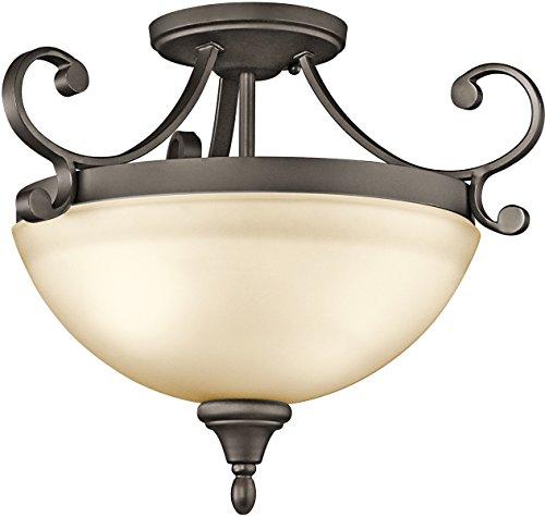 Kichler 43169OZ Monroe Semi-Flush 2-Light, Olde Bronze