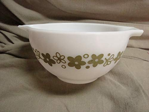 Spring Blossom Crazy Daisy Green PYREX Mixing Bowl 1 1/2 Pint