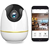 NETVUE 720P HD Wireless IP Surveillance Camera with Motion Detection P/T/Z TF Card Record/2 Way Audio/Night Vision, Compatible with Alexa Echo Show, 360 Degree View, Baby Monitor