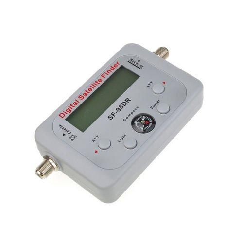 LeaningTech SF-95DR Dishnetwork Direc TV FTA Digital Satellite Signal Meter Finder w/ Compass Gray