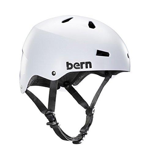 Bern 2017 Men's Macon Summer Skate Hard hat (White - (Macon Skate Helmet)