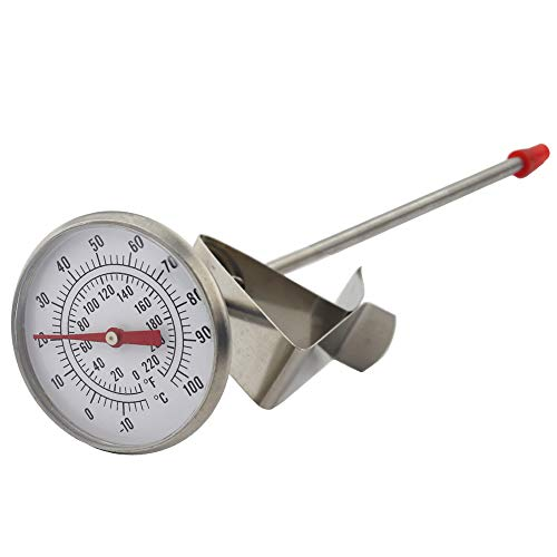 (Dairy Thermometer - Ideal for Milk Cheese Yoghurt Coffee Making 165mm Probe Length)