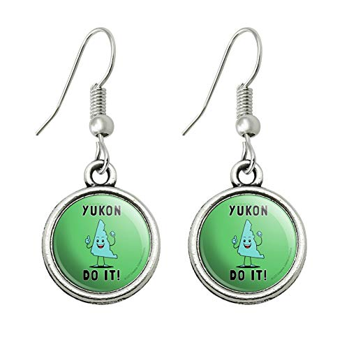 GRAPHICS & MORE Yukon Do It You Can Canada Funny Humor Novelty Dangling Drop Charm Earrings ()