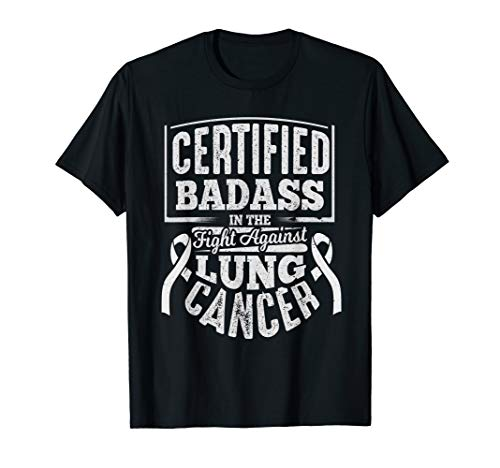 Badass Lung Cancer Awareness T Shirt Women Men Gifts]()