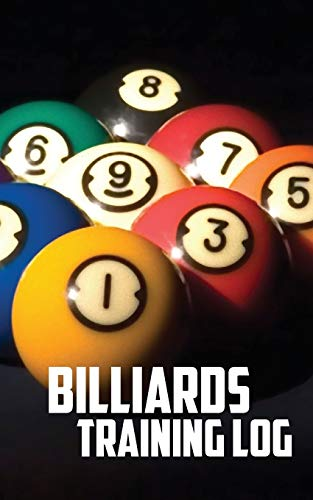 Billiards Training Log: Notebook of Pool Table Diagrams for practice and drills por Annette Wood Graphics