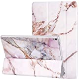 iPad Pro 10.5 case 2017,New iPad Air 10.5 Case [3rd Gen] 2019,DEENAKIN Slim Lightweight Smart Shell Stand Cover Fit Apple iPad 10.5, Pink Purple Marble Design for Women Girls [Auto Wake/Sleep]