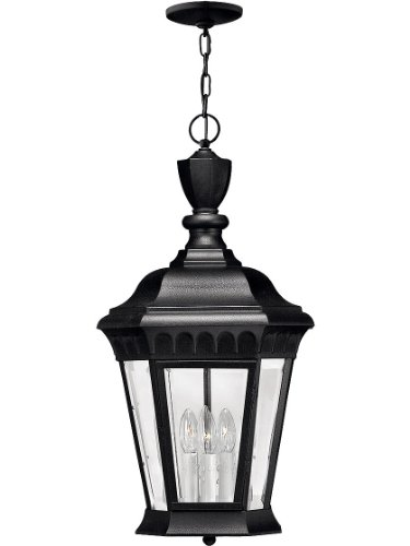 Hinkley 1702BK Traditional Three Light Hanging Lantern from Camelot collection in Blackfinish,
