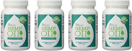 Manitoba Harvest Hemp Oil, 60 Softgel Capsules (Pack of 4) by Manitoba Harvest