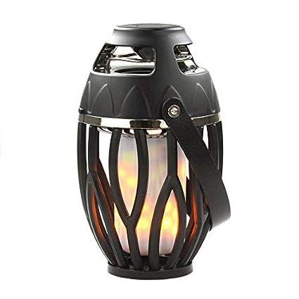 HALOViE Lampara Luz de Llama 2 en 1 con Altavoz Bluetooth inalámbrico Lámpara de música Uso
