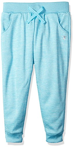 Champion Little Girls' Active Performance Space Dyed Fleece Joggers, Blue, 4
