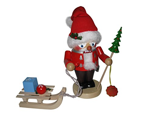 Steinbach Troll Santa and Sleigh 11 inch German Nutcracker