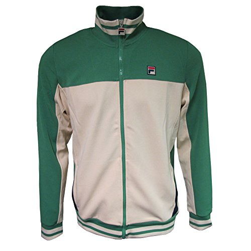 Fila Mens Vintage White Line Tiebreaker Green/Tapioca Track Jacket S ()