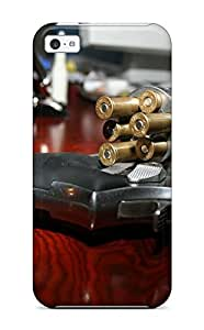 Awesome Gun Flip Case With Fashion Design For Iphone 5c