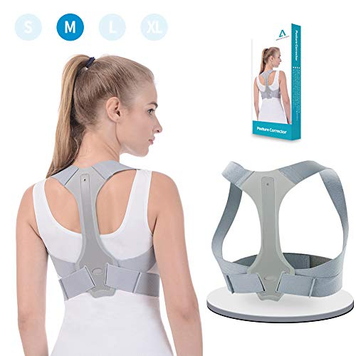 Anoopsyche Posture Corrector for Women and Men FDA Approved Upper Back Brace Comfortable Clavicle Support Device for Thoracic Kyphosis and Shoulder Neck Pain Relief (M)