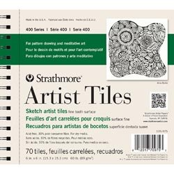 Bulk Buy: Strathmore (3-Pack) Artist Tiles 6in. x 6in. 70/Pkg Recycled Sketch - Tiles Artist 4x4