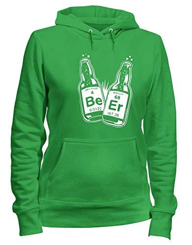 Verde Donna T Felpa SCIENCEAIL BEER Cappuccio Shirtshock FUN0742 q7qUwIB