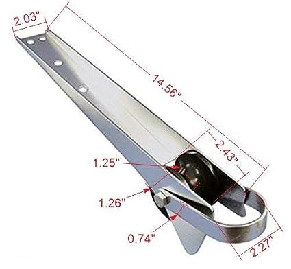Amazon.com: Amarine-made 16 – 1/4 inch Acero Inoxidable ...