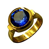 Jewelryonclick Round Blue Sapphire CZ Gold Plated Promise Ring Women Jewelry Gift Size 5,6,7,8,9,10,11,12