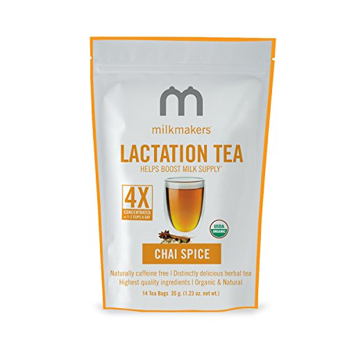 Milkmakers Lactation Tea, 1.23 Ounce, Chai, 14 Tea Bags