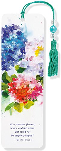 Hydrangeas Beaded Bookmark