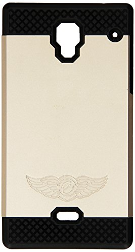 Eagle Cell Sharp Aquos Crystal Nest Hybrid TPU Hard Cover - Retail Packaging - Black/Gold