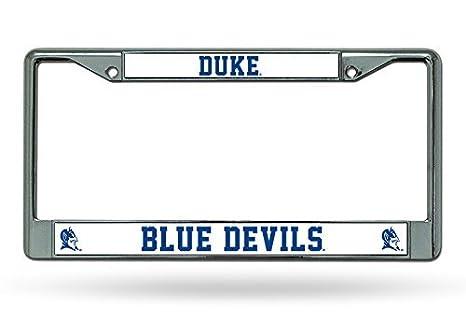 Amazon.com : NCAA Duke Blue Devils Chrome License Plate Frame ...