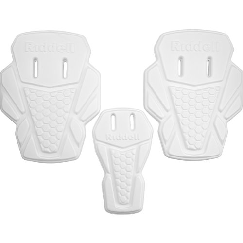 RIDDELL Youth 3-Piece Hip Pad Set with Slots, White (3 Piece Football Hip Pads)