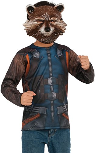 Boys Guardians Of The Galaxy Vol. 2 Rocket Raccoon Shirt And Mask Costume