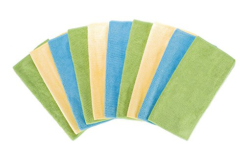 Fuller Brush All-Purpose Microfiber Cleaning Cloths - Multicolored - Reusable Dusting, Washing & Wiping Cloths - Extra Large Size 16