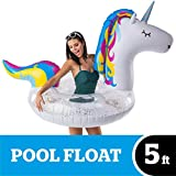 BigMouth Inc. Giant Inflatable Magical Unicorn Pool Float with Glitter...