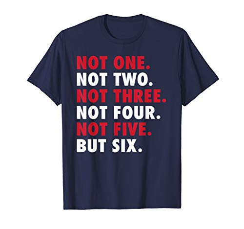 New England Football - 6 Time Champions T-Shirt