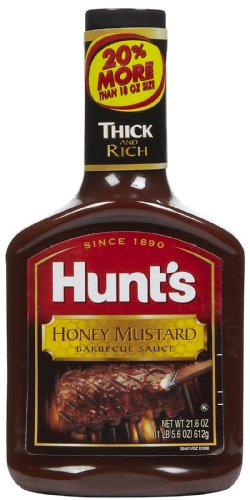 Hunts BBQ Sauce Honey Mustard, 21 oz, 3 Pack - 3 pk.