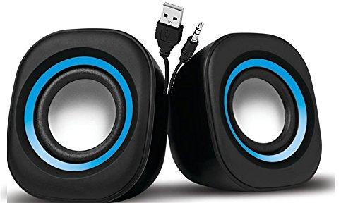 USB 2.0 Portable Mini Speaker  Multimedia  Color May Vary
