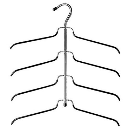 Whitmor 4-Tier Blouse Hanger Chrome/Black