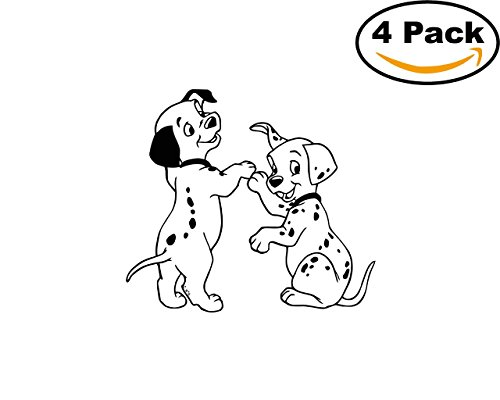101 Dalmatians 4 Stickers 4X4 Inches Car Bumper Window Sticker Decal 26