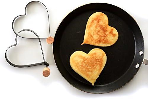 Norpro Nonstick Heart Pancake//Egg Rings 2 Piece Set