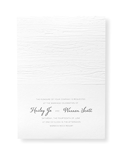 Woodgrain Embossed Print at Home Invitation Kit