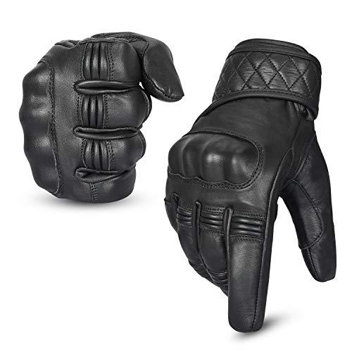 Hand Fellow Leder Motorrad Motorradhandschuhe Touchscreen Hard Knuckle Sommerhandschuhe/Winterhandschuhe Wasserdicht