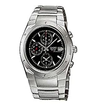 e6ee7f92f4d6 Image Unavailable. Image not available for. Color  Casio Edifice Men s  Stainless Steel Dress Watch ...