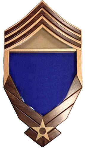 E-9-Air-Force-LogoChief-Master-Sergeant-CMSgt-Shadow-BoxRetirement-Display